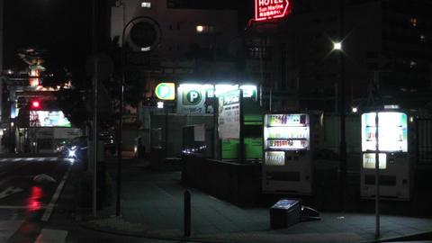 Typhoon in Yokohama Japan 09 handheld Stock Video Footage