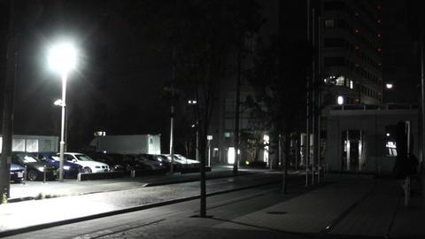 Typhoon in Yokohama Japan 11 handheld Stock Video Footage