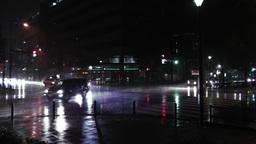 Typhoon Prewind in Yokohama Japan 02 handheld Stock Video Footage