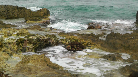 Waves and Rocks 01 Stock Video Footage