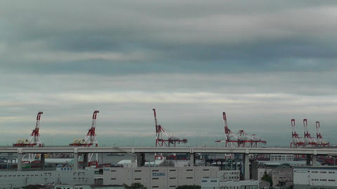 Yokohama Port Japan Stock Video Footage