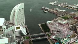 Yokohama Aerial Japan 02 Stock Video Footage