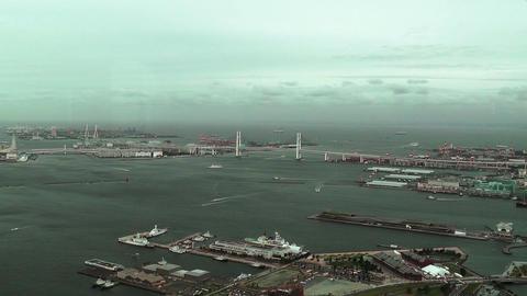 Yokohama Aerial Japan 06 Stock Video Footage