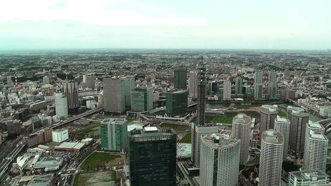 Yokohama Aerial Japan 08 Stock Video Footage