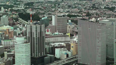 Yokohama Aerial Japan 10 Stock Video Footage