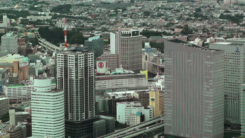 Yokohama Aerial Japan 10 Stock Video Footage