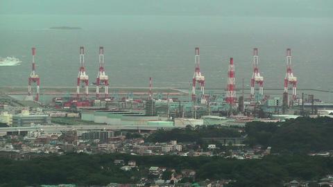Yokohama Aerial Japan 21 Stock Video Footage