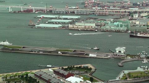 Yokohama Aerial Japan 23 Stock Video Footage
