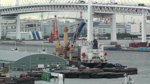 Yokohama Port 02 Stock Video Footage