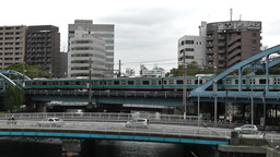 Yokohama Commuter Train Traffic Japan Stock Video Footage