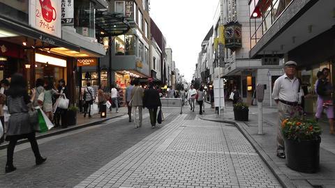 Yokohama Shopping Street Japan Stock Video Footage