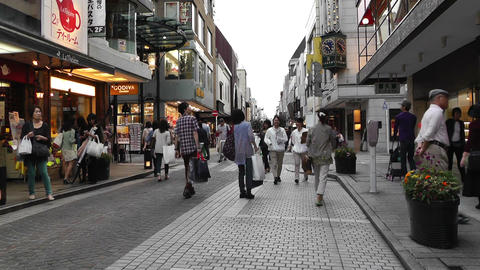 Yokohama Shopping Street Japan Footage