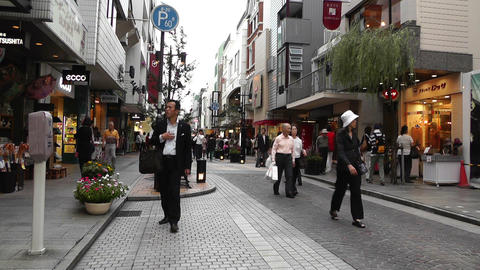 Yokohama Shopping Street Japan 03 Stock Video Footage