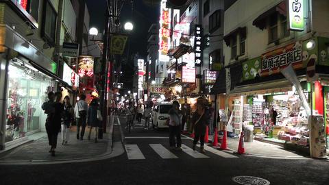 Yokohama Chinatown Street Japan night Stock Video Footage