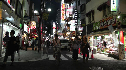 Yokohama Chinatown Street Japan night Stock Video Footage