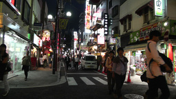 Yokohama Chinatown Street Japan night Footage