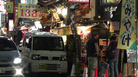 Yokohama Chinatown Street Japan 25 night Stock Video Footage