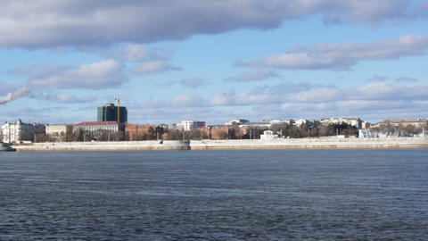 Blagoveshchensk panorama Stock Video Footage