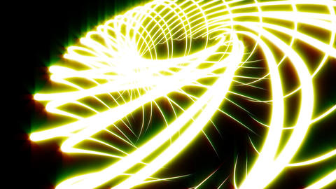 Looping Abstract Animated Background - Yellow Stock Video Footage