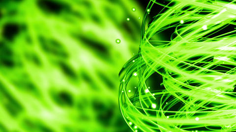 Green Nature Light Streaks - Abstract Background 77 (HD) Stock Video Footage