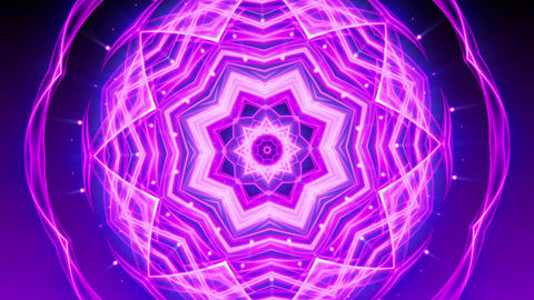 Purple Glowing Ornament - Abstract Background 83 (HD) Stock Video Footage