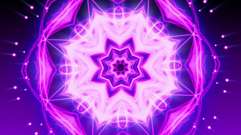 Purple Glowing Ornament - Abstract Background 83 (HD) Animation