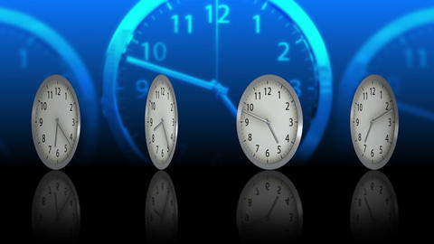 Passing Time Background - Clock 73 (HD) Stock Video Footage