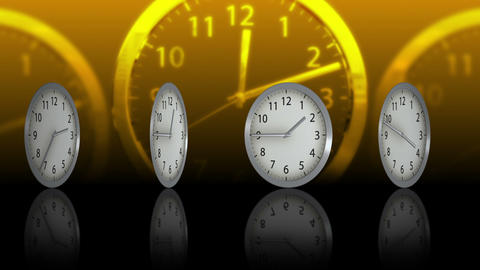 Passing Time Background - Clock 75 (HD) Stock Video Footage