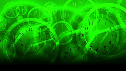 Time Flies Background - Clock 79 (HD) Animation