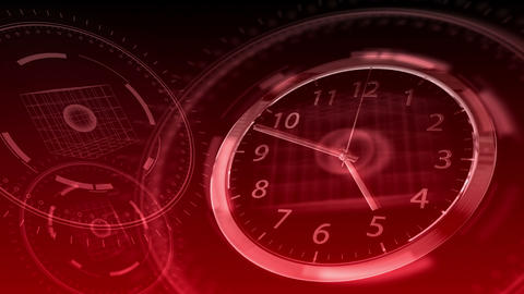 Time Flies - Hi-tech Clock 87 (HD) Stock Video Footage