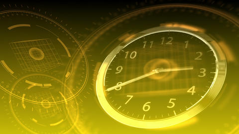 Time Flies - Hi-tech Clock 89 (HD) Stock Video Footage