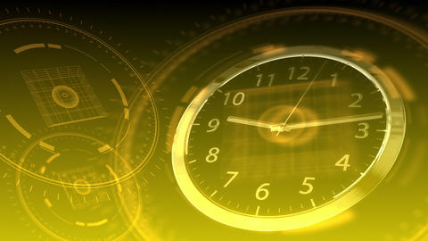 Time Flies - Hi-tech Clock 89 (HD) Stock Video Footage