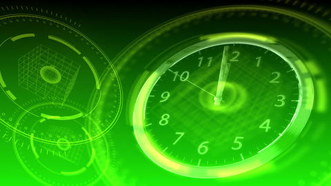 10 seconds to 12 - Hi-tech Clock 91 (HD) Stock Video Footage