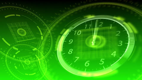 10 seconds to 12 - Hi-tech Clock 91 (HD) Animation