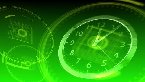 Time Flies - Hi-tech Clock 93 (HD) Stock Video Footage