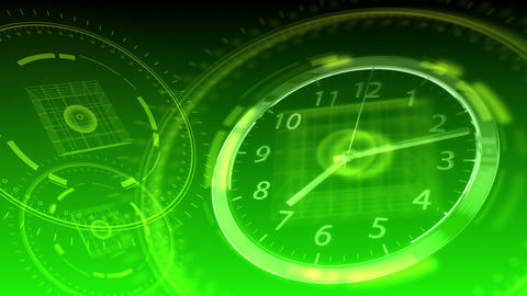 Time Flies - Hi-tech Clock 93 (HD) Animation