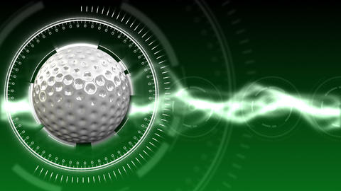 Golf Ball Background 01 (HD) Stock Video Footage