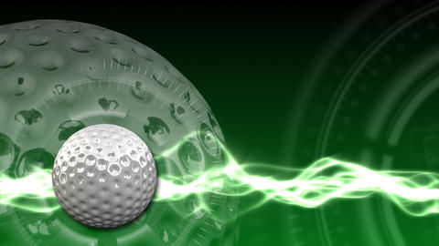 Golf Ball Background 03 (HD) Stock Video Footage