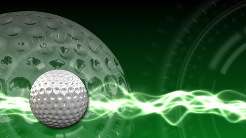 Golf Ball Background 03 (HD) CG動画素材