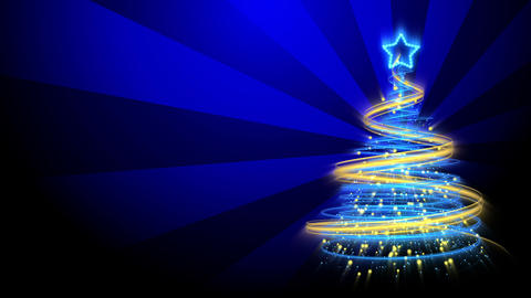 Christmas Tree Background - Merry Christmas 72 (HD) Stock Video Footage