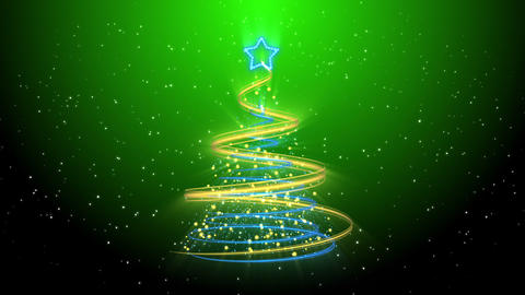 Christmas Tree Background - Merry Christmas 74 (HD) Stock Video Footage