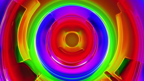 Colorfool 3 - Colorful Circles Texture Video Background Loop Stock Video Footage