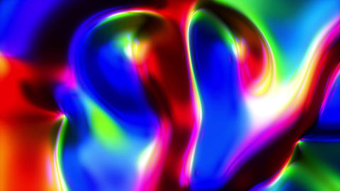 Glassoup - Very Colorful Liquid-like Video Background Loop Stock Video Footage