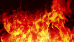 Firewall 2 - Stylized Fire Video Background Loop Stock Video Footage