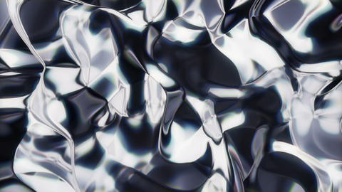 Metaliq 3 - Flowing Metal Texture Video Background Loop Stock Video Footage