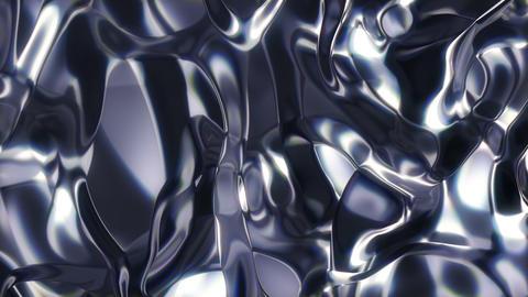 Metaliq 3 - Flowing Metal Texture Video Background Loop Stock Video Footage