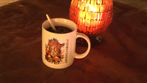 Mulled wine on Christmas market Stock Video Footage