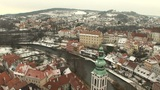 View from Cesky Krumlov Castle Footage