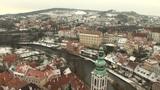 View from Cesky Krumlov Castle Footage