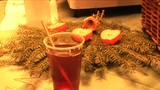 Mulled Wine On Christmas Market stock footage